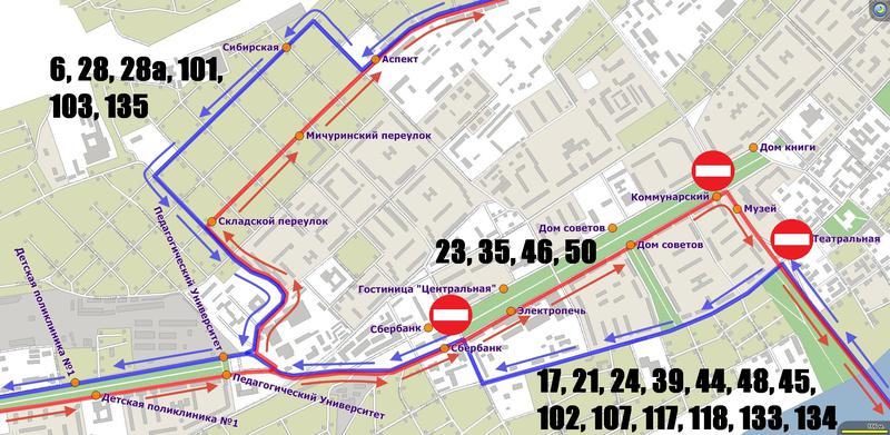 Схема маршрута объездов -
